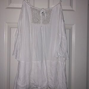 White cold shoulder urban outfitters dress